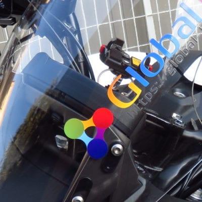 バイクスクリーンに印刷